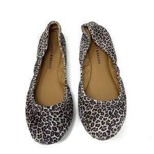 Lucky Brand Leopard Flats 7.5